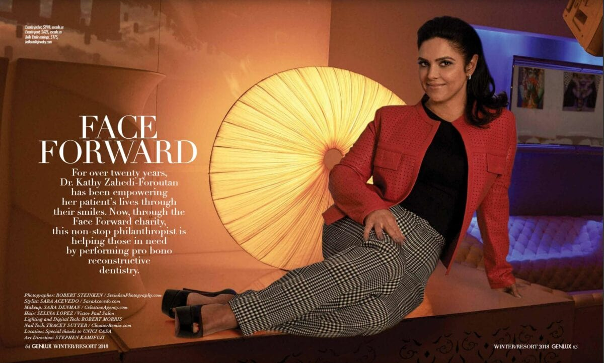 kathy zahedi featured in Genlux magazine