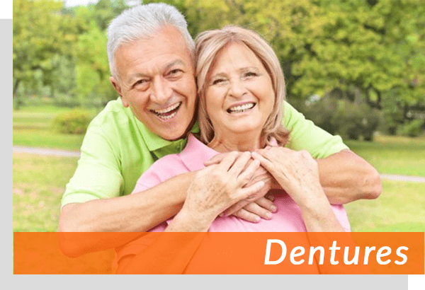 male and female denture patients