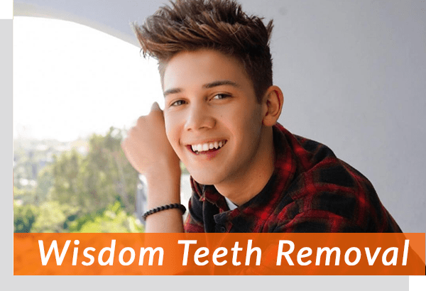 young teen after wisdom tooth extraction
